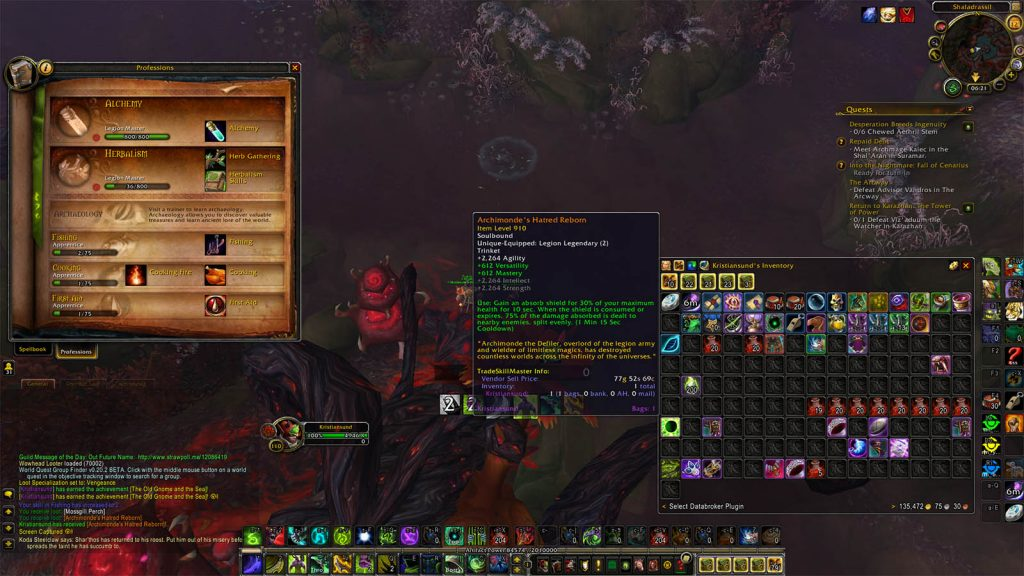 World of Warcraft Screenshot Angeln Legendär