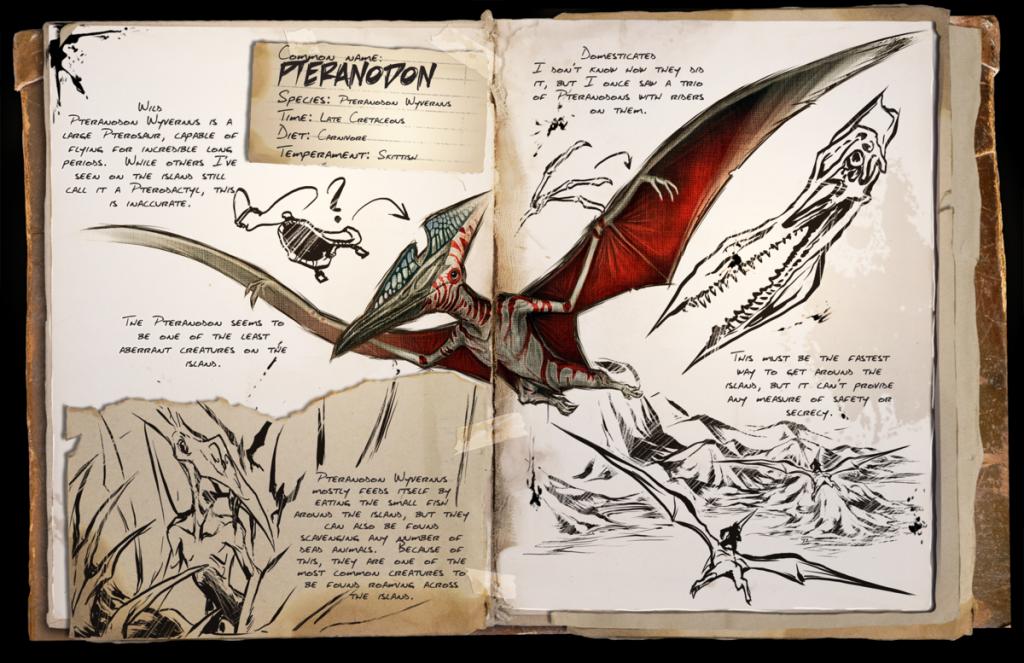 ark Pterosaur zeichnung