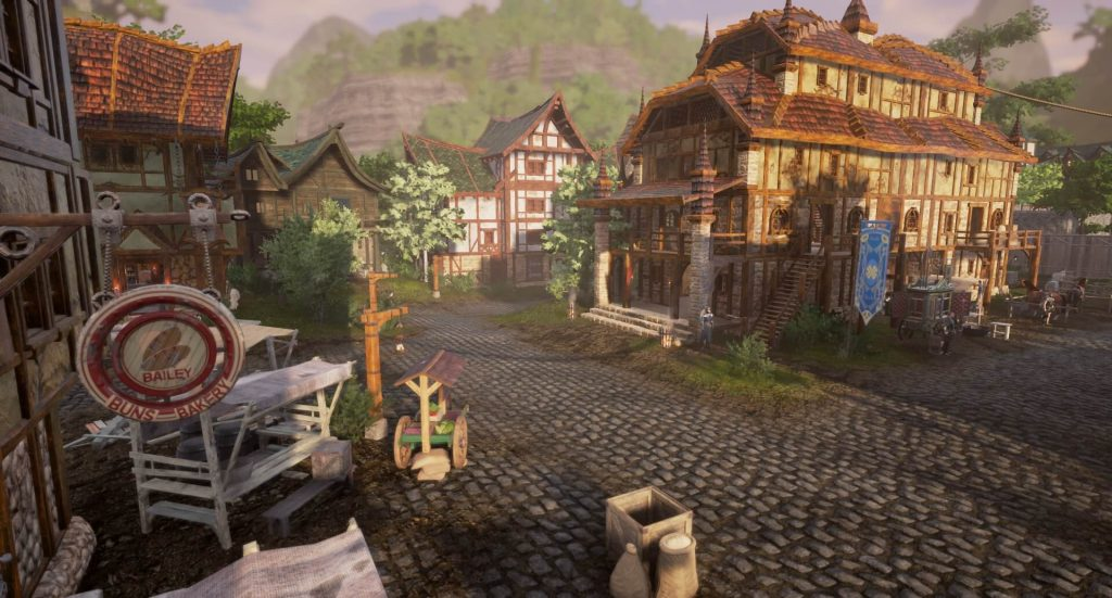 Eine Stadt in Ashes of Creation