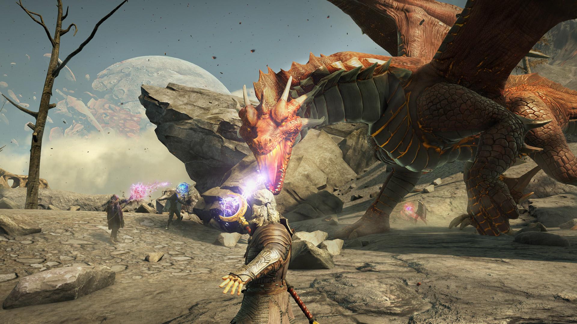 dark and light dragon fight