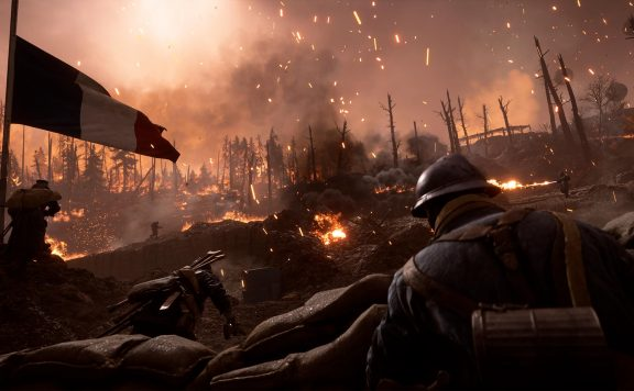 Battlefield 1 They Shall not Pass Schlachtfeld Feuer Soldaten