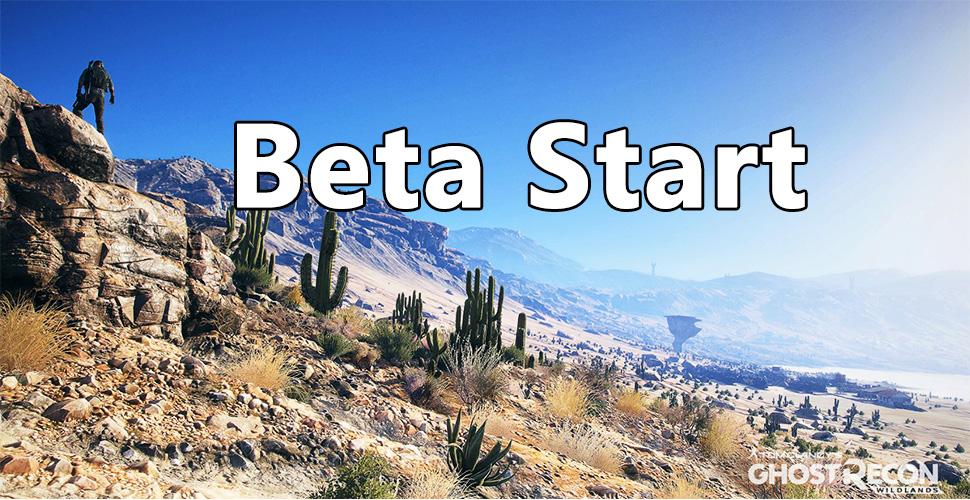 Ghost Recon Wildlands Beta Start Titel