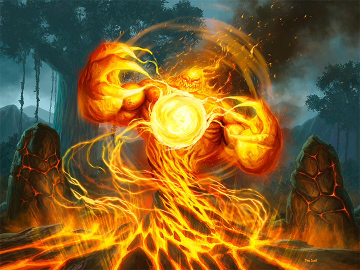 Hearthstone Ungoro Elemental Fire