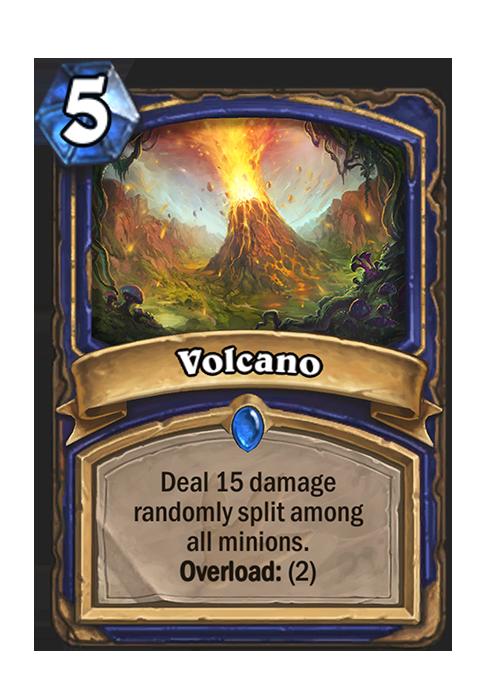 Hearthstone Ungoro Vulcano Card
