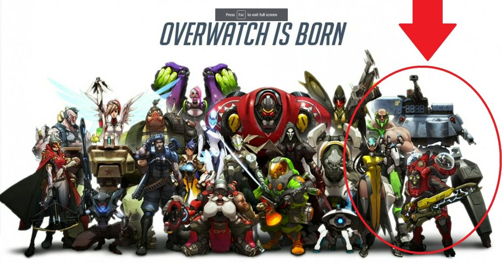 Overwatch Crew Unknown Heroes Circled