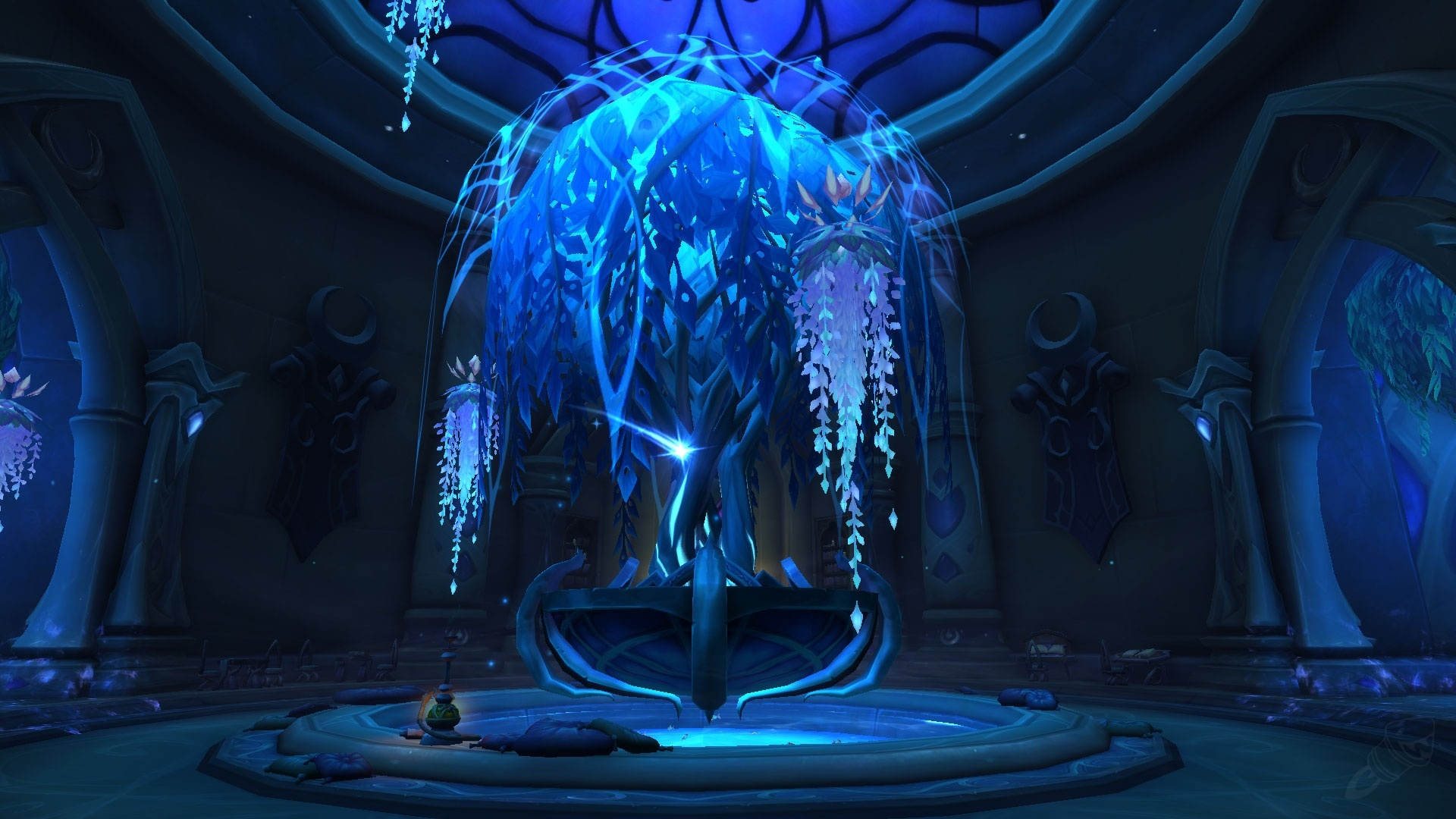 WoW Tomb of Sargeras Hall with tree