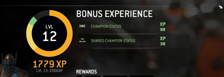 for honor champion status