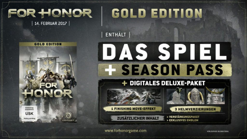 for honor gold