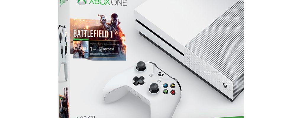 Xbox One S Bundle – mit Battlefield 1, For Honor, Ghost Recon Wildlands für 299€