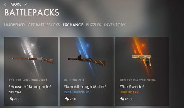 Battlefield 1 Schrottobjekt Austausch