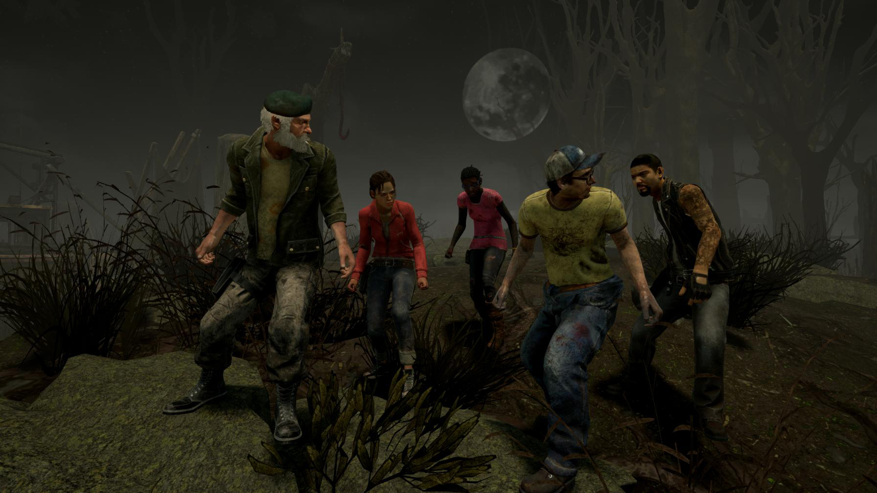 Dead by Daylight Left 4 Dead Characters