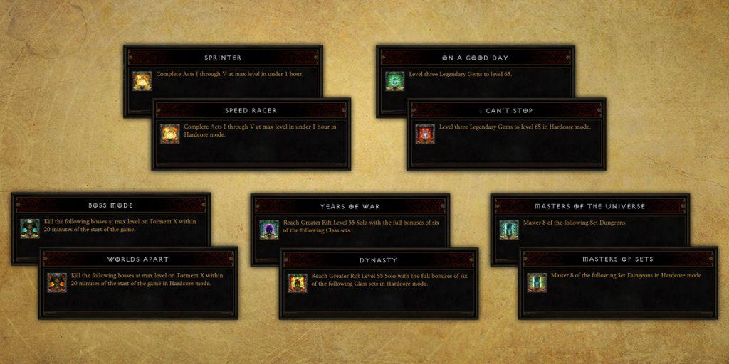 Diablo 3 Errungenschaften Season 10