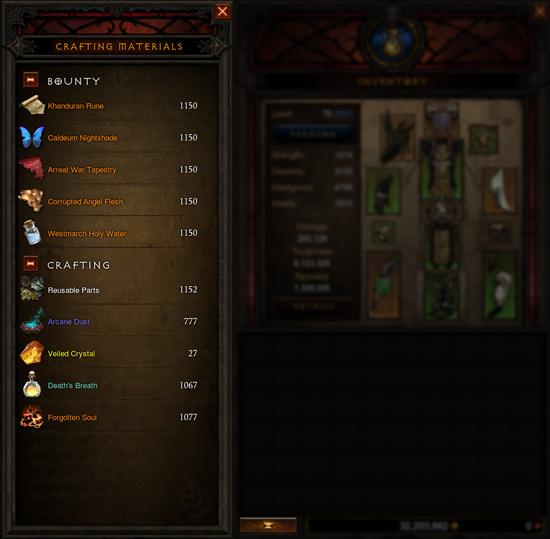 Diablo 3 Handwerks Items Übersicht