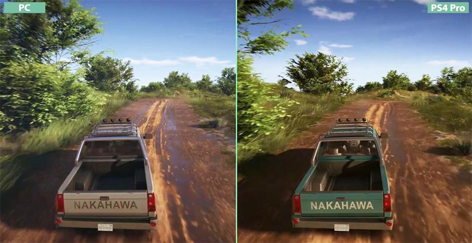 Ghost Recon Wildlands 4k Vergleich PS4 Pro PC