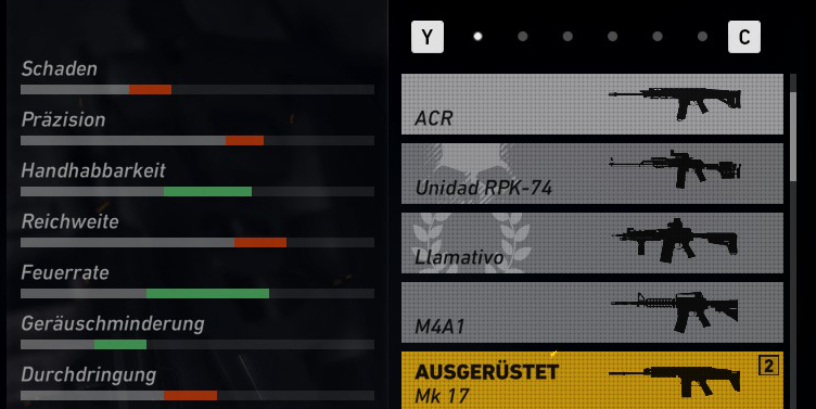 Ghost Recon Wildlands ACR Vergleich MK17