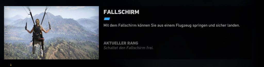 Ghost Recon Wildlands Fallschirm