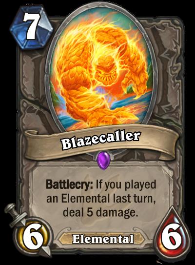 Hearthstone Ungoro Blazecaller