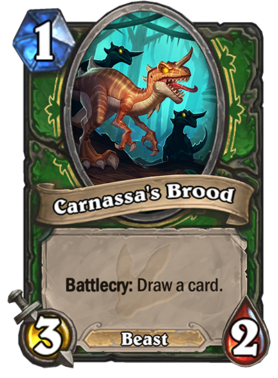 Hearthstone Ungoro Carnassas Brood