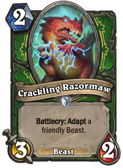 Hearthstone Ungoro Crackling Razormaw