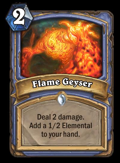 Hearthstone Ungoro Flame Geyser
