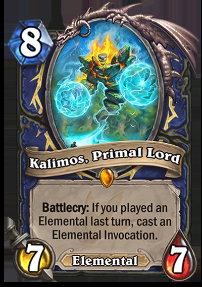 Hearthstone Ungoro Kalimos Primal Lord