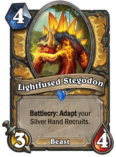 Hearthstone Ungoro Lightfused Stegodon