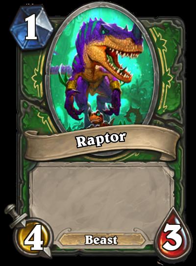 Hearthstone Ungoro Raptor