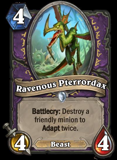 Hearthstone Ungoro Ravenous Pterrordax