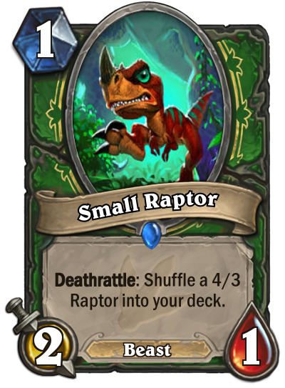 Hearthstone Ungoro Small Raptor