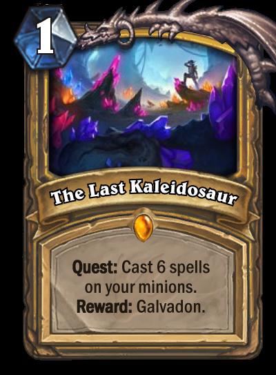 Hearthstone Ungoro The Last Kaleidosaur