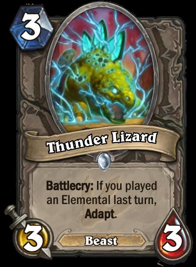 Hearthstone Ungoro Thunder Lizard