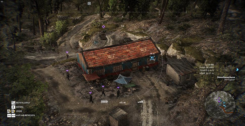 M4A1 Übersicht Jagdhütte Wald Drohne
