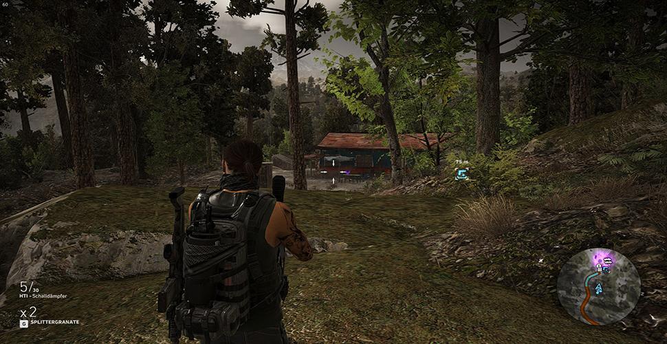 M4A1 Übersicht Jagdhütte Wald
