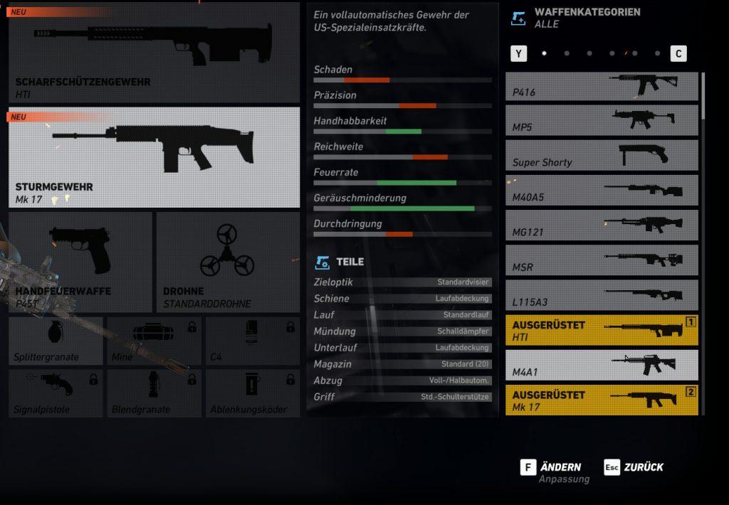 M4A1 Vergleich MK 17