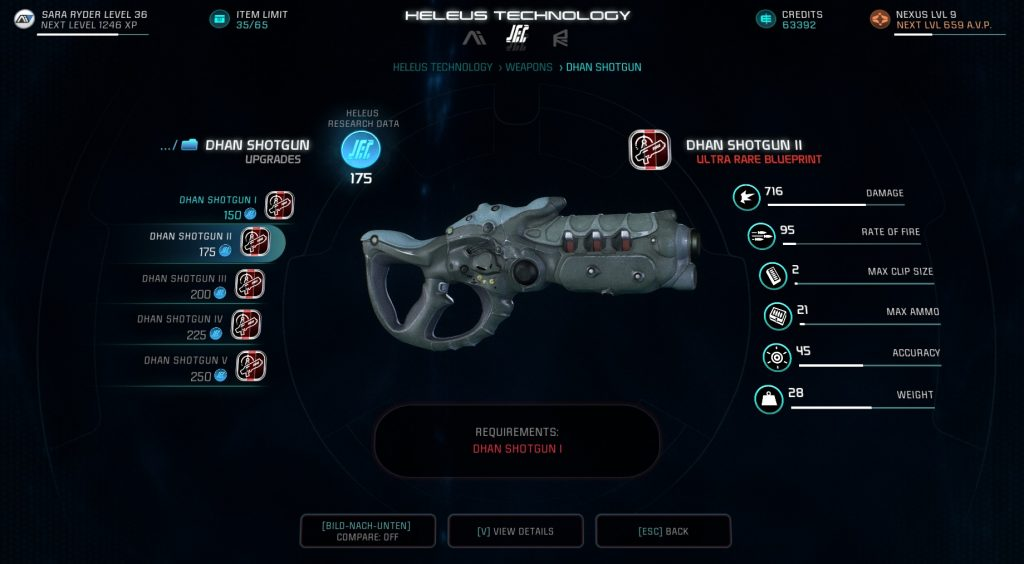 Mass Effect Andromeda Dhan Shotgun