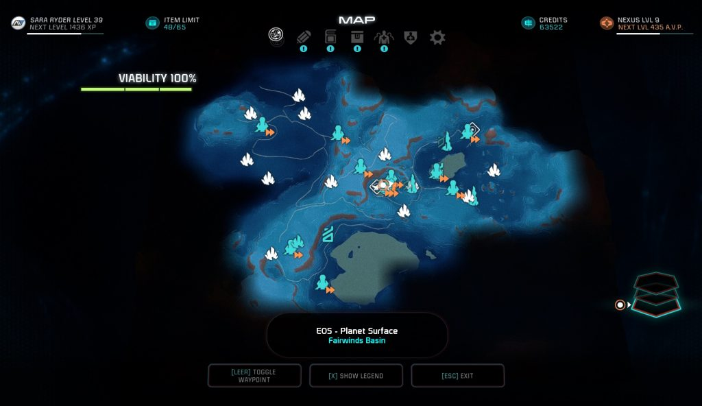 Mass Effect Andromeda Eos Map