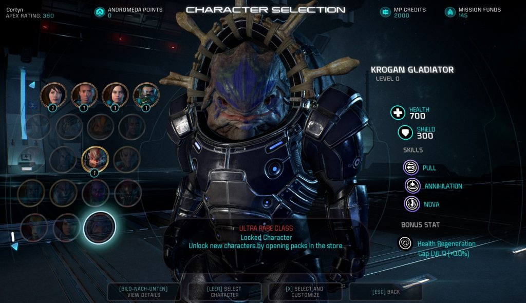 Mass Effect Andromeda MP Patch Krogan Gladiator Kit