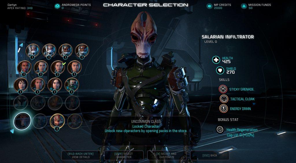 Mass Effect Andromeda Multiplayer Unlocks