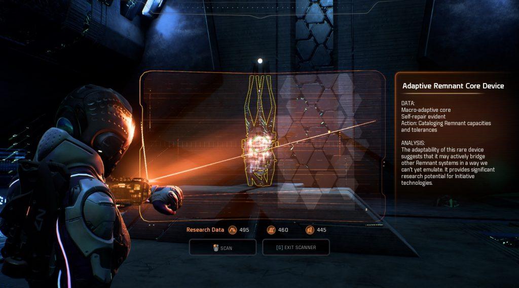 Mass Effect Andromeda Scanning