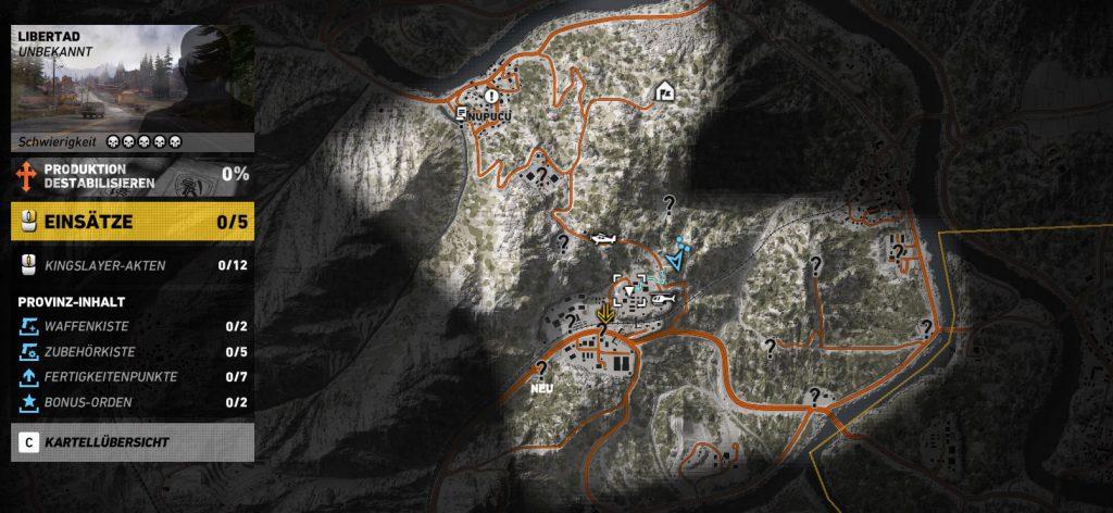 Mk 17 Übersicht Karte Landepunkt