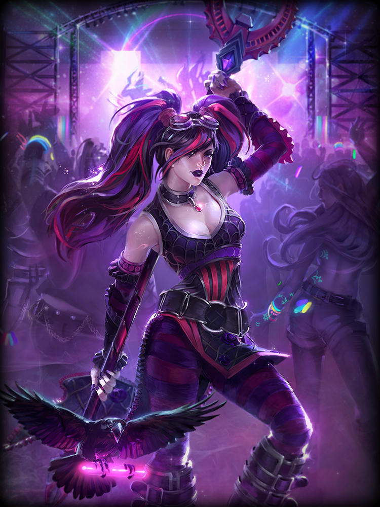 SMITE The Morrigan Punk God Card