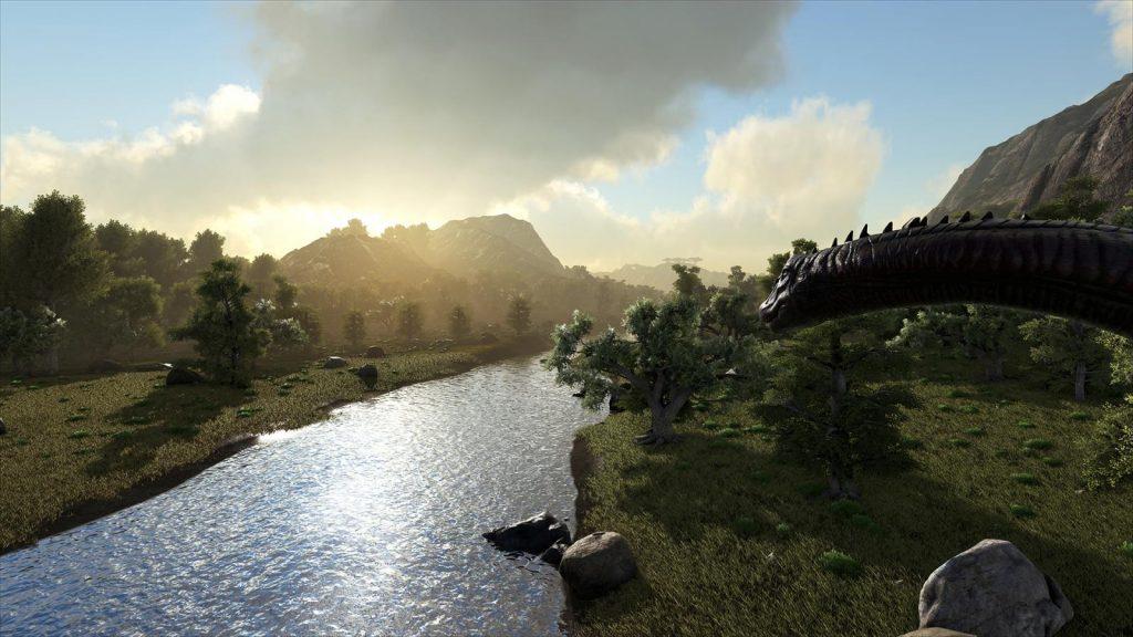 ark survival langhals landschaft