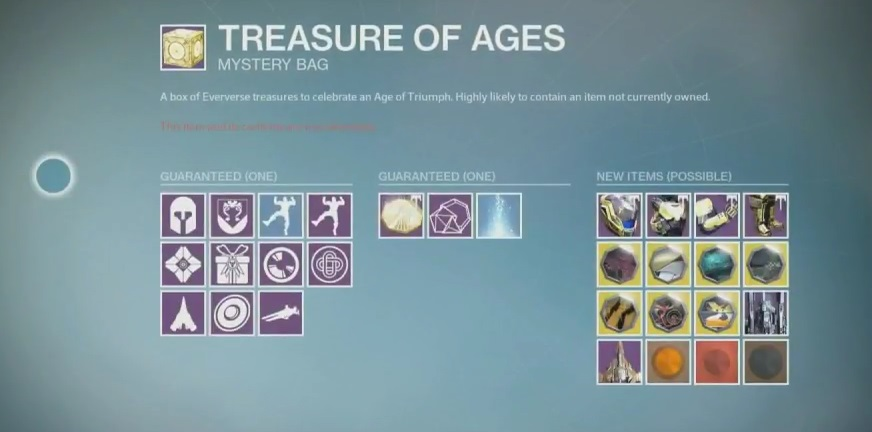 destiny treasure age