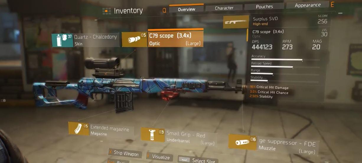 Sniper Build Divisonb