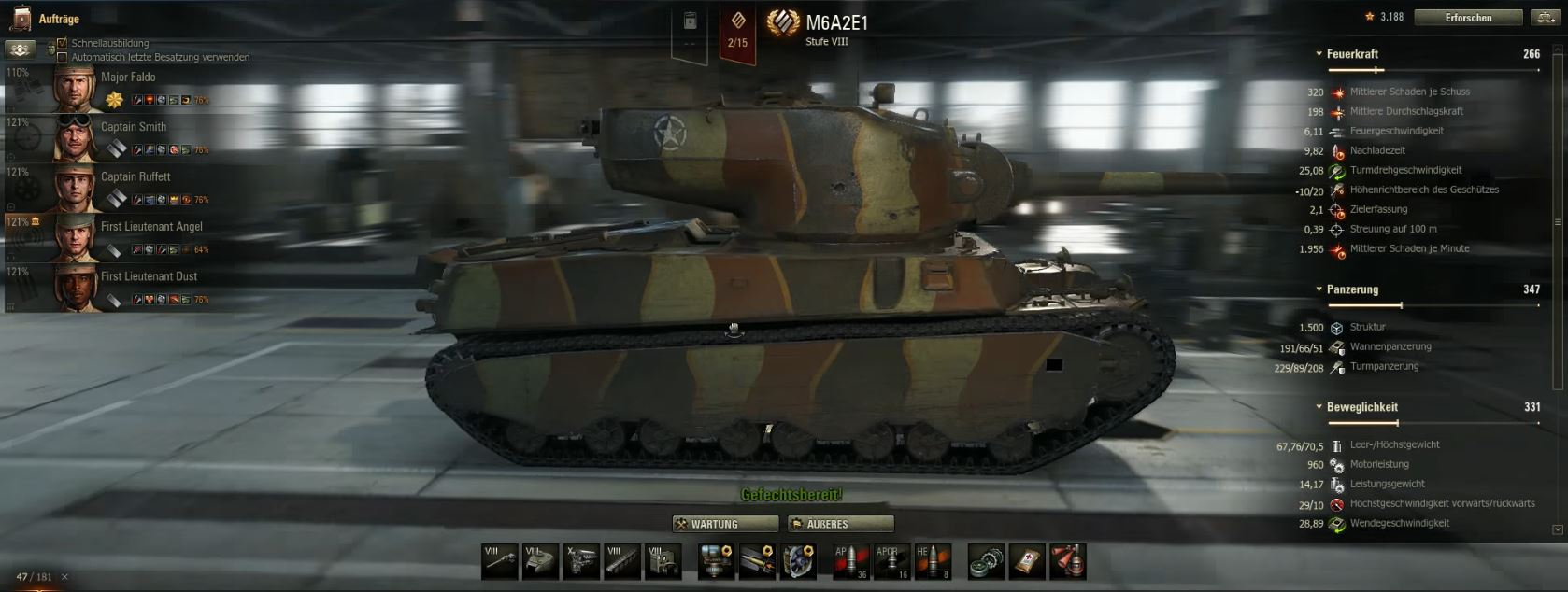world of tanks M6A2E1 01
