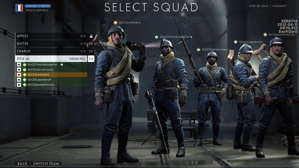 Battlefield 1 Dice Squad