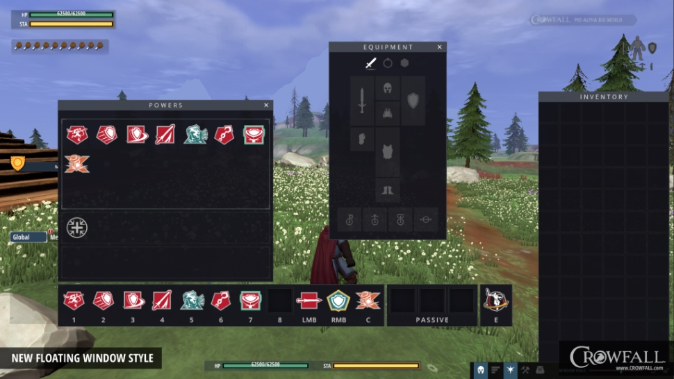 Crowfall new UI