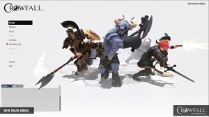 Crowfall new main menu