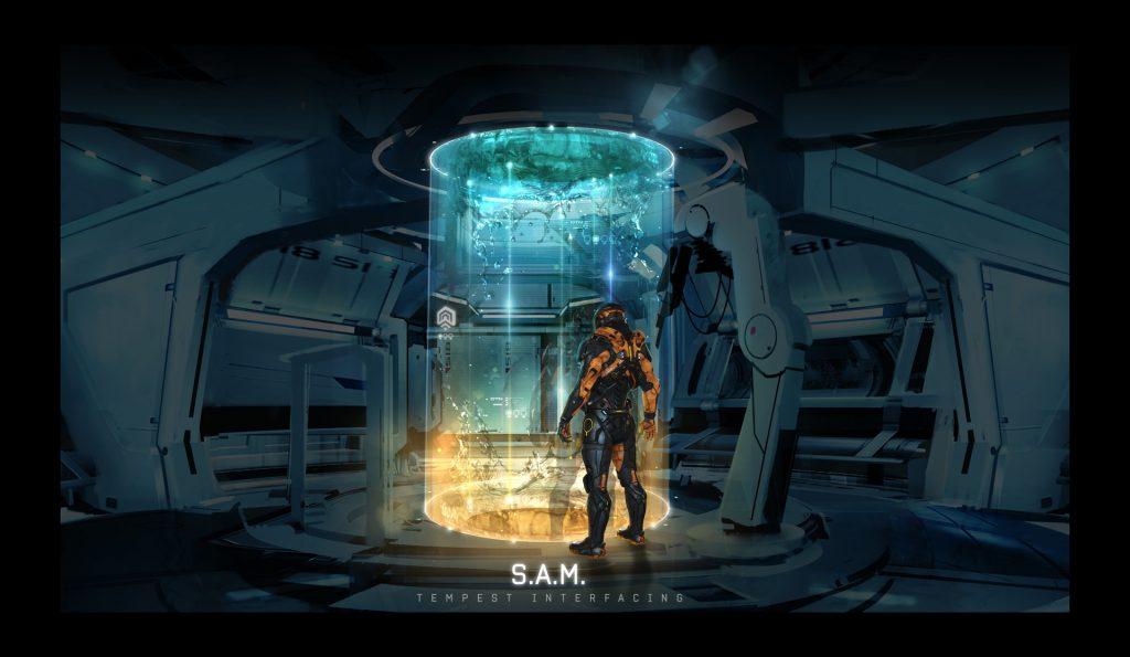 Mass Effect Andromeda Artwork SAM Interface