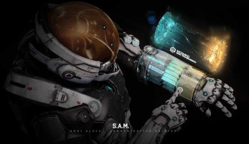 Mass Effect Andromeda Artwork SAM Transmission